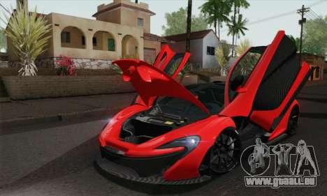 McLaren P1 HQ pour GTA San Andreas vue de droite