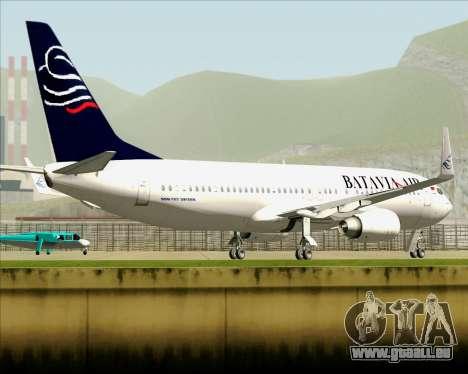 Boeing 737-800 Batavia Air für GTA San Andreas obere Ansicht