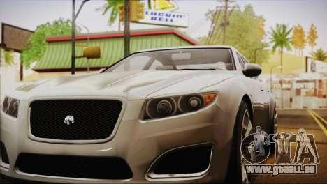 Lampadati Felon (IVF) pour GTA San Andreas sur la vue arrière gauche
