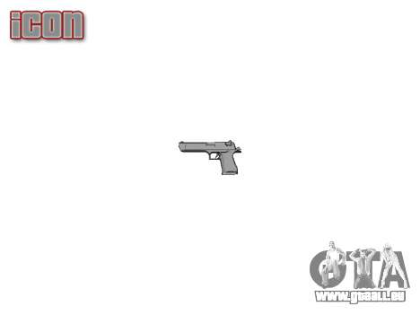 Pistole IMI Desert Eagle Mk XIX Schwarz für GTA 4 dritte Screenshot