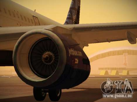 Airbus A321-232 jetBlue Blue Kid in the Town pour GTA San Andreas roue