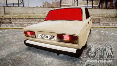 VAZ-2107 azerbaïdjanais style pour GTA 4 Vue arrière de la gauche