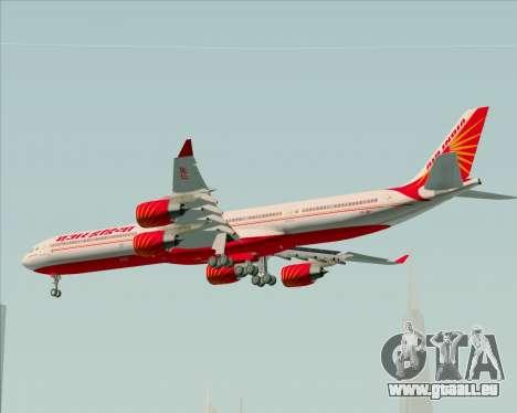 Airbus A340-600 Air India pour GTA San Andreas vue intérieure