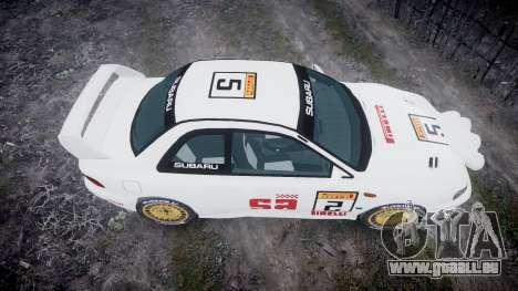 Subaru Impreza WRC 1998 SA Competio v3.0 pour GTA 4 est un droit