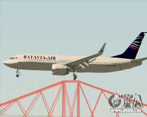 Boeing 737-800 Batavia Air für GTA San Andreas rechten Ansicht