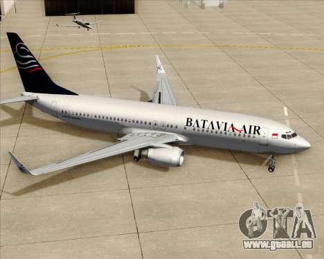 Boeing 737-800 Batavia Air für GTA San Andreas Räder