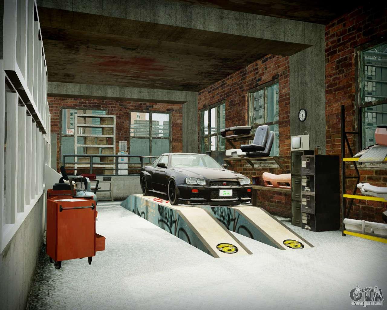 Garage avec de nouveaux int rieur alcaline pour gta 4 for Interieur garage