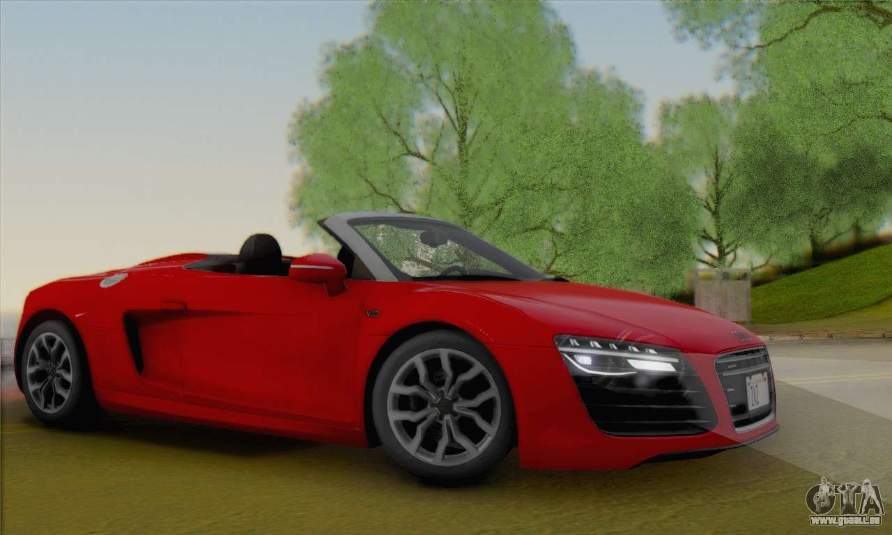 Audi R8 V10 Spyder 2014 Pour Gta San Andreas