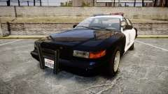Vapid Police Cruiser GTA V LED [ELS] pour GTA 4