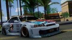 Nissan Skyline R-34 SDK Style für GTA San Andreas