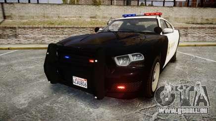 GTA V Bravado Buffalo LS Sheriff Black [ELS] für GTA 4