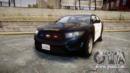 GTA V Vapid Interceptor LSS Black [ELS] Slicktop pour GTA 4