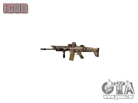 La Machine FN SCAR-L Mc 16 cible icon2 pour GTA 4 quatrième écran