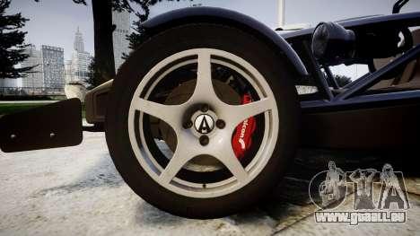 Ariel Atom V8 2010 [RIV] v1.1 FOUR C Motorsport pour GTA 4 Vue arrière