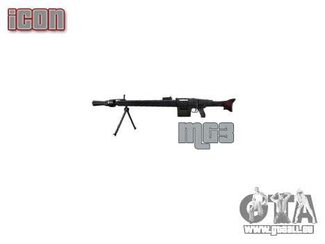 Allemand MG3 mitrailleuse icon3 pour GTA 4 troisième écran