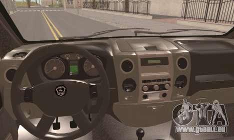GAZelle Prochaine pour GTA San Andreas sur la vue arrière gauche