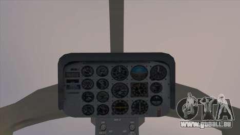 Bell 407 pour GTA San Andreas sur la vue arrière gauche
