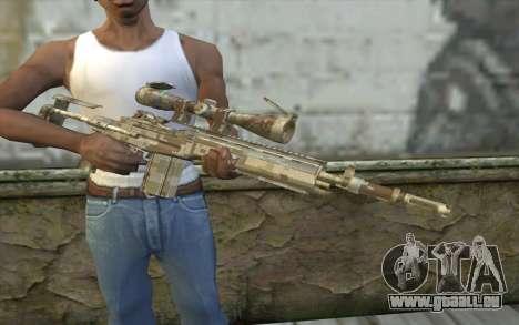 M14 EBR Digidesert pour GTA San Andreas troisième écran