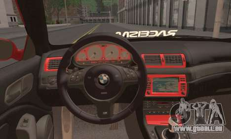 BMW M3 Coupe Tuned pour GTA San Andreas sur la vue arrière gauche