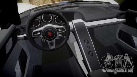 Porsche 918 Spyder 2014 für GTA 4 Innenansicht
