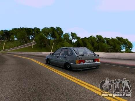VAZ 2114 pour GTA San Andreas sur la vue arrière gauche