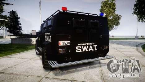 SWAT Van pour GTA 4 Vue arrière de la gauche
