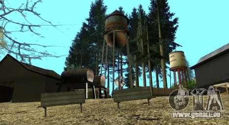 L'Altruiste camp sur le mont Chiliade pour GTA San Andreas dixième écran