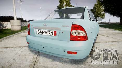 ВАЗ-Lada 2170 Priora Sapara pour GTA 4 Vue arrière de la gauche