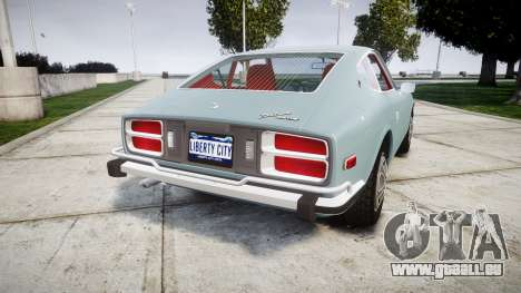Datsun 260Z 1974 pour GTA 4 Vue arrière de la gauche