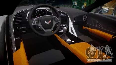 Chevrolet Corvette C7 Stingray 2014 v2.0 TireMi5 pour GTA 4 est une vue de l'intérieur