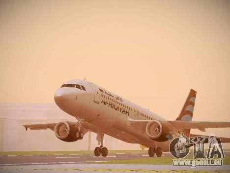 Airbus A320-214 Afriqiyah Airways für GTA San Andreas linke Ansicht