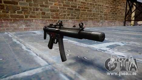 Pistolet MP5SD DRS CS b cible pour GTA 4