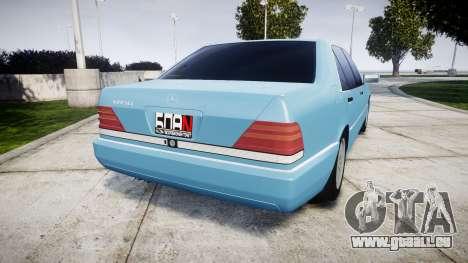 Mercedes-Benz 600SEL W140 pour GTA 4 Vue arrière de la gauche