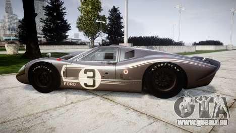 Ford GT40 Mark IV 1967 PJ 3 pour GTA 4 est une gauche