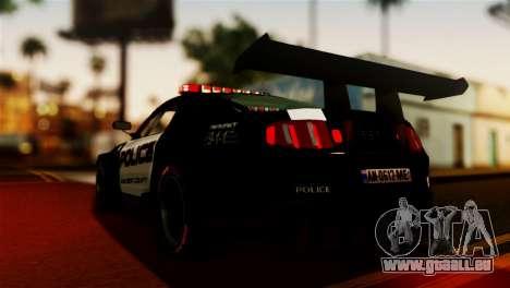 Ford Mustang GT-R Police pour GTA San Andreas laissé vue