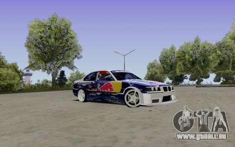 BMW E36 Red Bull pour GTA San Andreas vue de droite