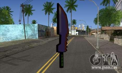 Dessin animé épée pour GTA San Andreas deuxième écran
