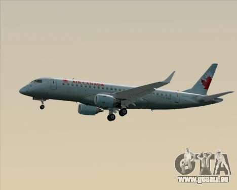 Embraer E-190 Air Canada für GTA San Andreas obere Ansicht