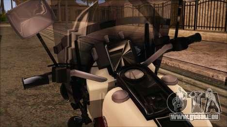 GTA 5 Police Bike pour GTA San Andreas sur la vue arrière gauche