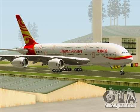 Airbus A380-800 Hainan Airlines für GTA San Andreas Innenansicht