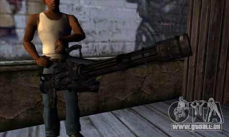 Pistolet Volcan v1 pour GTA San Andreas troisième écran