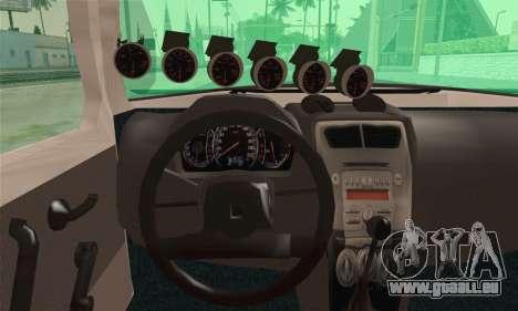 Daihatsu Mira Modified pour GTA San Andreas sur la vue arrière gauche