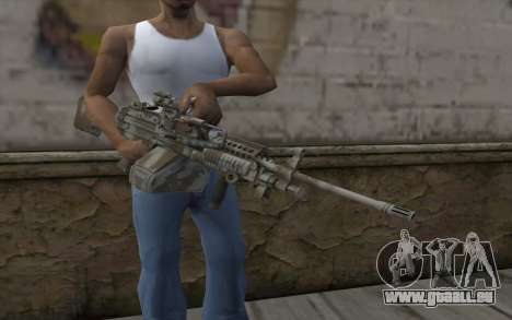 Minigun MK48 für GTA San Andreas dritten Screenshot