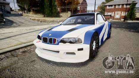 BMW M3 E46 GTR Most Wanted plate NFS ND 4 SPD pour GTA 4
