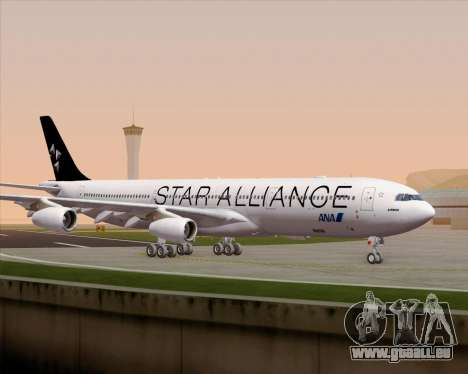 Airbus A340-300 All Nippon Airways (ANA) für GTA San Andreas obere Ansicht