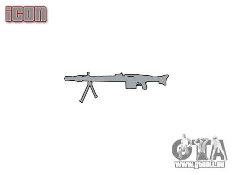 Deutsche Maschinengewehr MG3 icon1 für GTA 4 dritte Screenshot