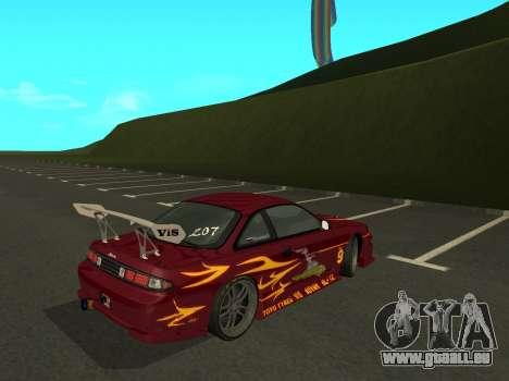Nissan 200SX FnF1 (Letty car) für GTA San Andreas zurück linke Ansicht