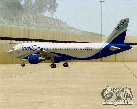 Airbus A320-200 IndiGo für GTA San Andreas Innenansicht