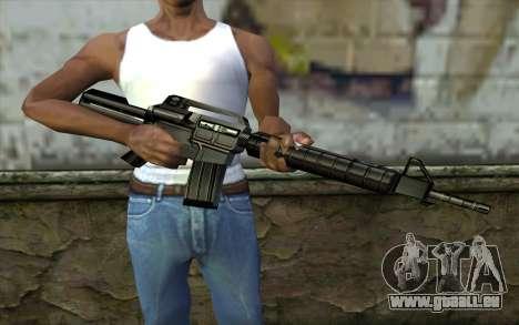 Retextured M4 für GTA San Andreas dritten Screenshot