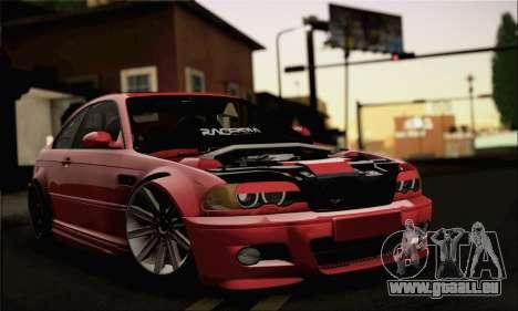 BMW M3 Coupe Tuned Version Burnout für GTA San Andreas